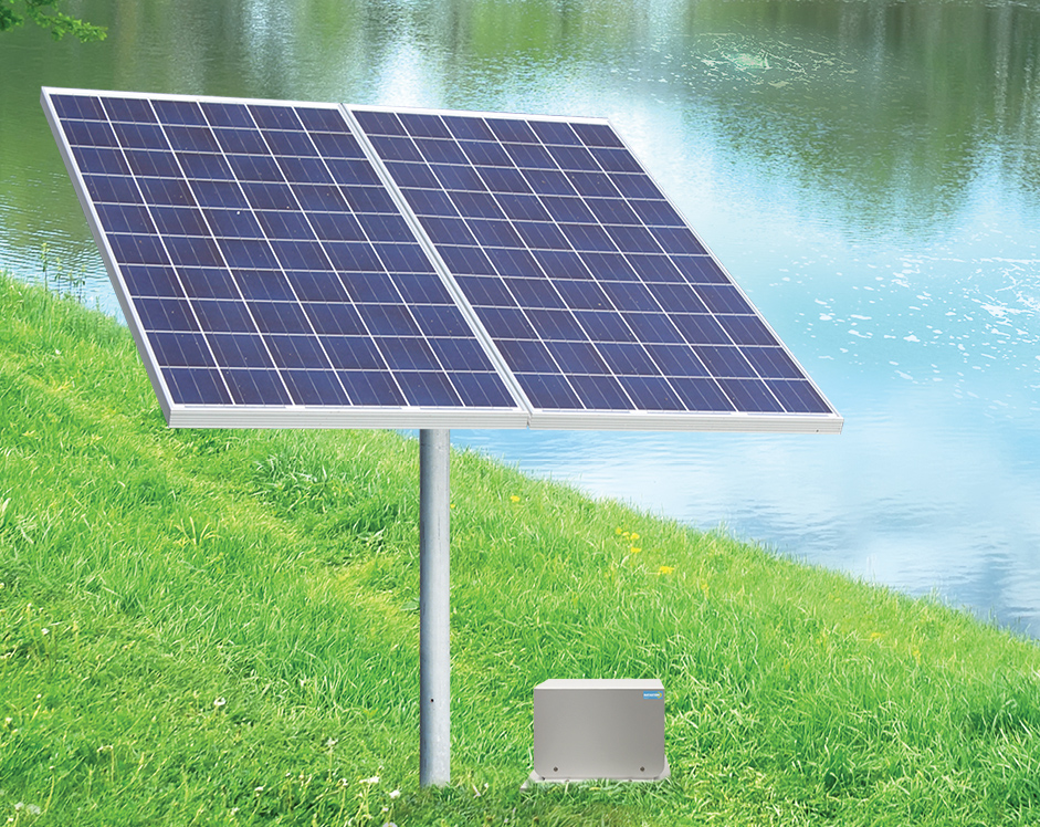 Solar panels for pond aeration systems