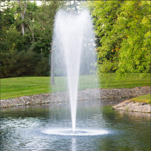 Large pond fountain and pond pump